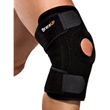 BraceUP Antimicrobial Breathable Knee Stabilizer And Support With Spring Steel Stays, One Size Adjustable Knee...