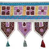 Colorfull Toran Gray Cotton Floral Patch Work Toran For Living Room By Rajrang