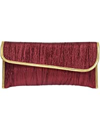 Bagaholics Evening Party Ethnic Ladies Purse Clutch Gift For Women MAROON