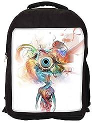 Snoogg Beauty In Mind Eye Backpack Rucksack School Travel Unisex Casual Canvas Bag Bookbag Satchel