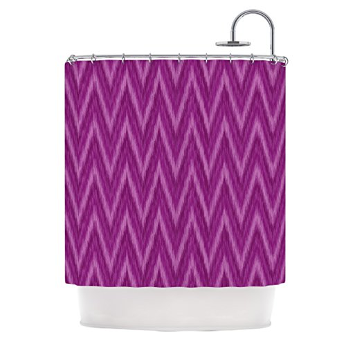 Dark Purple chevron shower curtain
