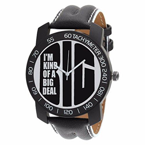 Relish-562 Stylish Black Case Analog Watches For Mens & Boys