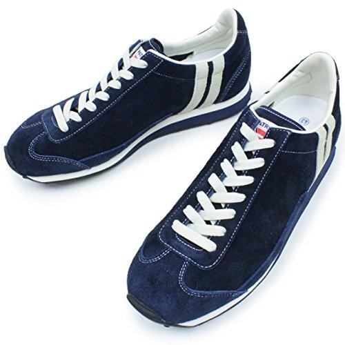 PATRICK パトリック メンズ ( BOSTON 2 ボストン 526567 RED レッド / 526562 NAVY ネイビー ) ローカット ベロア スニーカー ランニング  靴 (43 (27.0cm), ネイビー)