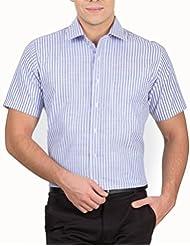 Arihant Men's 40s Lea Linen-100% Formal Half Sleeve Shirt - B00XEBHDTS