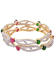 Bharat Sales Gold Plated Multi Alloy Bangles For Women - B00YPARS1U
