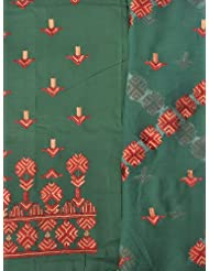 Exotic India Phulkari Salwar Kameez Fabric From Punjab With Ari Embroidery - B00DRFV1IK