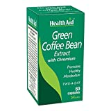 Health Aid Standardised Green Coffee Bean Extract With Chromium (60 Capsules), 60 Capsules Unflavored