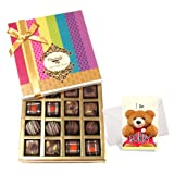 Mind-blowing Collection Of Truffles And Chocolates With Sorry Card - Chocholik Belgium Chocolates
