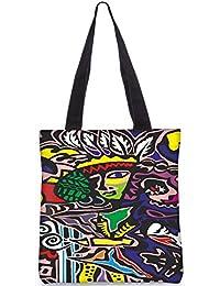 Snoogg Junglee Girl Digitally Printed Utility Tote Bag Handbag Made Of Poly Canvas