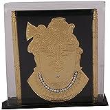 Shree Satguru Gifts & Toys Fiber Shreenath Jee Photo Frame (10 Cm X 3 Cm X 9 Cm, Black & Gold, SSGT-187)