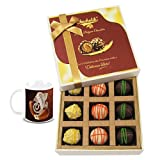 Chocholik Belgium Chocolates - 9pc Scrumptious White Collection Of Chocolates With Diwali Special Coffee Mug -...
