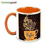 HomeSoGood Beautiful Coffee Tree In Coffee Mug Coffee Mug White 325 Ml Ceramic
