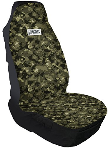 Leader Accessories Safari HB Front Truck Seat Covers for Cars Expedition Patten High Back One Bucket Seat Cover for Truck