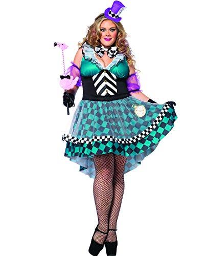 Halloween 2017 Disney Costumes Plus Size & Standard Women's Costume Characters - Women's Costume CharactersLeg Avenue 85227X Plus Size Manic Mad Hatter Halloween Costume - Black/Blue