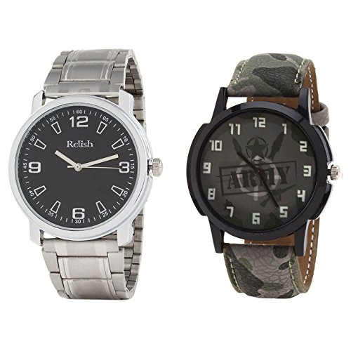 Relish Analog Round Casual Wear Watches For Men Combo - B01ANCDQSM