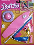 Barbie SEASIDE FUN Playset - SEA SIDE Set w WIND SURFING SAIL BOAT & MORE! (1988 Arco Toys, Mattel)