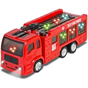 ToyZe® Bump And Go Action, Fire Truck For Kids, With Lights And Real Sounds.