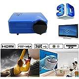 Portable Mini Projector LCD LED Portable HD Home Theater (200 Lumens, 648— 480, VGA HDMI AV USB SD Manual Focus... - B01ESK5QZG