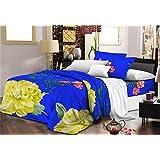 Nine Living Polar Fleece Bedsheet Cum Comforter With Pillow Cover- Blue (Set Of 3)