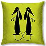Right Digital Printed Clip Art Collection Cushion Cover RIC008a-Yellow