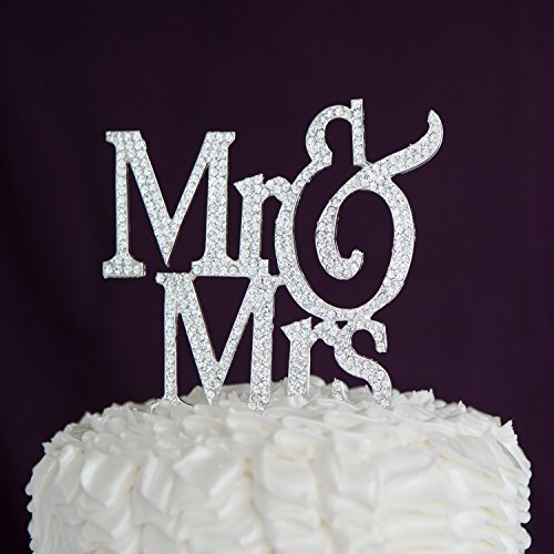 wedding cake toppers initials metal mr amp mrs wedding cake topper modern silver metal 26512