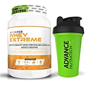 Whey Extreme Protein Powder 1kg (2.2LBS) Chocolate With Odourfree Spillproof Whey Protein Shaker 600ml