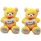 Ktc Yellow Teddy Bear Set Of 2 (70 Cm)
