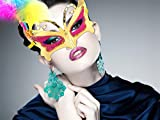 Lvzun Halloween Masquerade Butterfly Feathers Beauty Mask-5pack