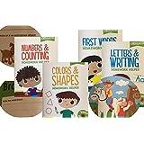 Kindergarten & 1st Grade 8 Book Set Educational Activity Workbooks Worksheets Prep 2nd Graders Home School Learning...