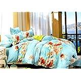Home Heart Cotton Bedsheet Set With 2 Pillow Covers - Queen Size (228 X 275cm Pillow Case - 46 X 69cm)