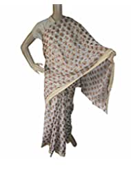Beautiful RUDA Designer Phulkari Embroidered Saree-JS1098