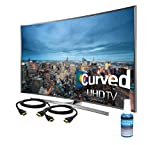 Samsung Performace Bundle-48″ Curved Smart LED Ultra-HDTV with 3D *PLUS* a Bonus Bundle Which Includes 2 HDMI Cables and Screen Cleaner(UN48JU7500 + Deluekit)