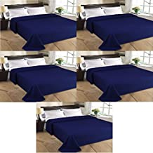 MSE Set Of 5 Home Collection Premium Quality Double Bed AC Bedspread Blanket