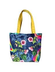 Angelfish Designer Floral Print Women Tote Shoulder Bag