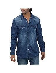 Inego Men's Casual Shirt (Dk.Indigo )