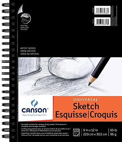 Canson 9-Inch by 12-Inch Universal Sketch Book, 100-Sheet