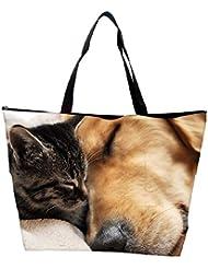 Snoogg Dog And Cat Sleeping Designer Waterproof Bag Made Of High Strength Nylon
