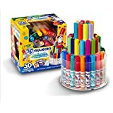 Crayola 50 CT Washable Pip Squeaks Telescoping Marker Tower, Multi Color