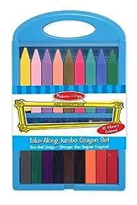 Melissa And Doug Take-Along Jumbo Crayon Set: Amazon.co.uk ...