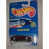 #264 Lexus Sc400 Metal Flake Dark Red 3 Spoke Wheels Condition Mattel Hot Wheels