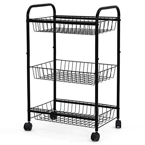 kitchen storage cart with wheels organize home in style shopswell 8616
