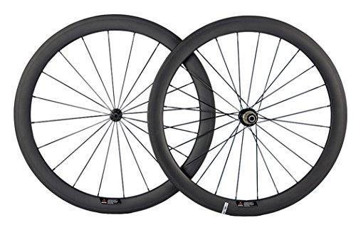 Queen Bike Carbon Fiber Road Bike Wheels 50mm Clincher Wheelset 700c Racing Bike Wheel (Shimano Body)