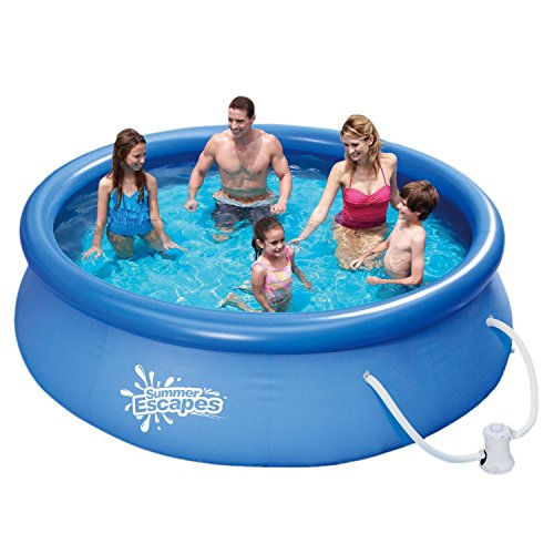 Summer Escapes Fast Set Quick Up Pool 305x76cm Swimming Pool Familien Schwimmbad mit Filterpumpe