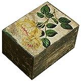 Royal Roots Wooden Hand Painted Vintage Box (VR0030, 15 Cm X 10 Cm X 10 Cm)