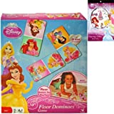 Disney Princess Floor Dominoes Game Gift Set For Kids - 1 Princess Dominos Game (28 Giant Pieces) Plus Princess...