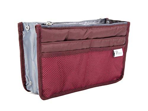 Periea - Organiseur de sac à main, 12 Compartiments - Chelsy (Wine, Moyen: H17.5 x L28 x P2-16cm)