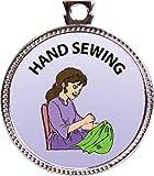 Keepsake Awards Hand Sewing Silver Award Disk