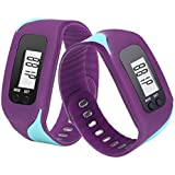 Sandistore LCD Run Step Pedometer Walking Distance Calorie Counter Run Walking Distance Fitness Trackers Purple