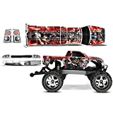 Designer Decal For Traxxas Stampede Vxl 1/10 (#3607 L) Amrracing Rc Kit Mad Hatter Silver/Red
