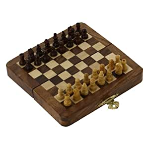 chess set amazon handcrafted wooden folding chess set wood 29756